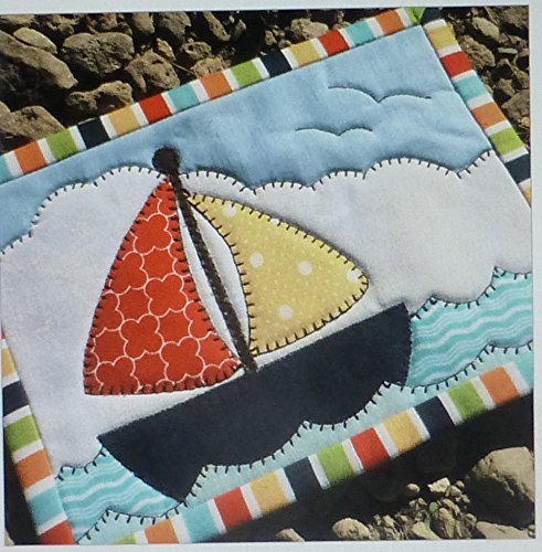 Come Sail Away Mug Rug Pre-cut Applique Kit, Sewing Kit , Sewing Quilt Kit