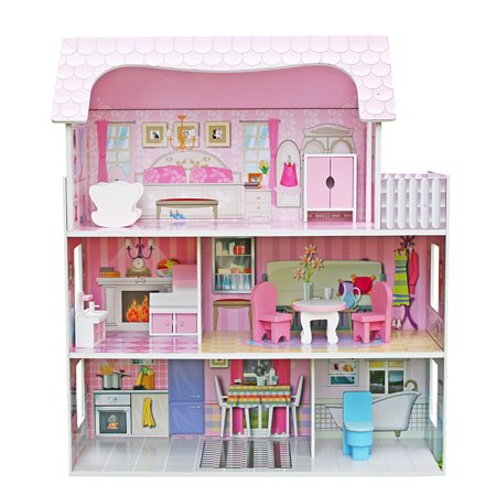 Wooden Dollhouse Furniture for Kids House Play Wooden Dollhouse Accessories Best Gifts for Kids