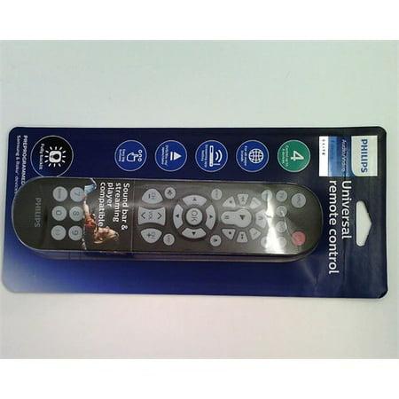 Philips 4 Device Elite Backlit Universal Remote Control - Brushed Black