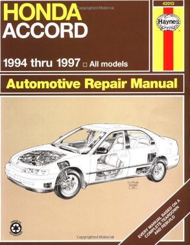 honda accord  94 97  haynes repair manuals 2001 Honda Accord Service Manual PDF 1999 honda accord service manual
