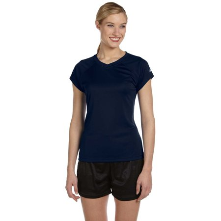 913fb877 Branded Champion - Branded Champion Ladies 41 oz Double Dry V-Neck T-Shirt  - NAVY - S (Instant Saving 5% & more on min 2) - Walmart.com