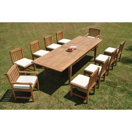 Grade-A Teak Dining Set: 10 Seater 11 Pc: 122