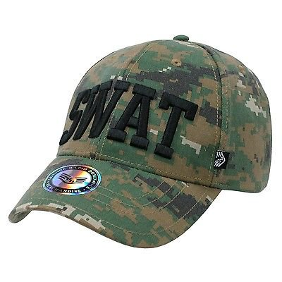 Camo Camouflage SWAT Special Weapons & Tactics Baseball Ball Cap Caps Hat Hats - Swat Hats