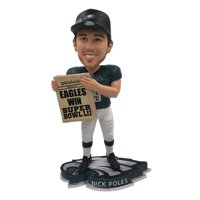 345101536 Nick Foles Philadelphia Eagles Super Bowl LII Special Edition Bobblehead NFL