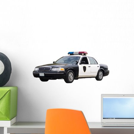 - Police Car Wall Decal Sticker, Wallmonkeys Peel & Stick Vinyl Graphic (18 in W x 7 in H)