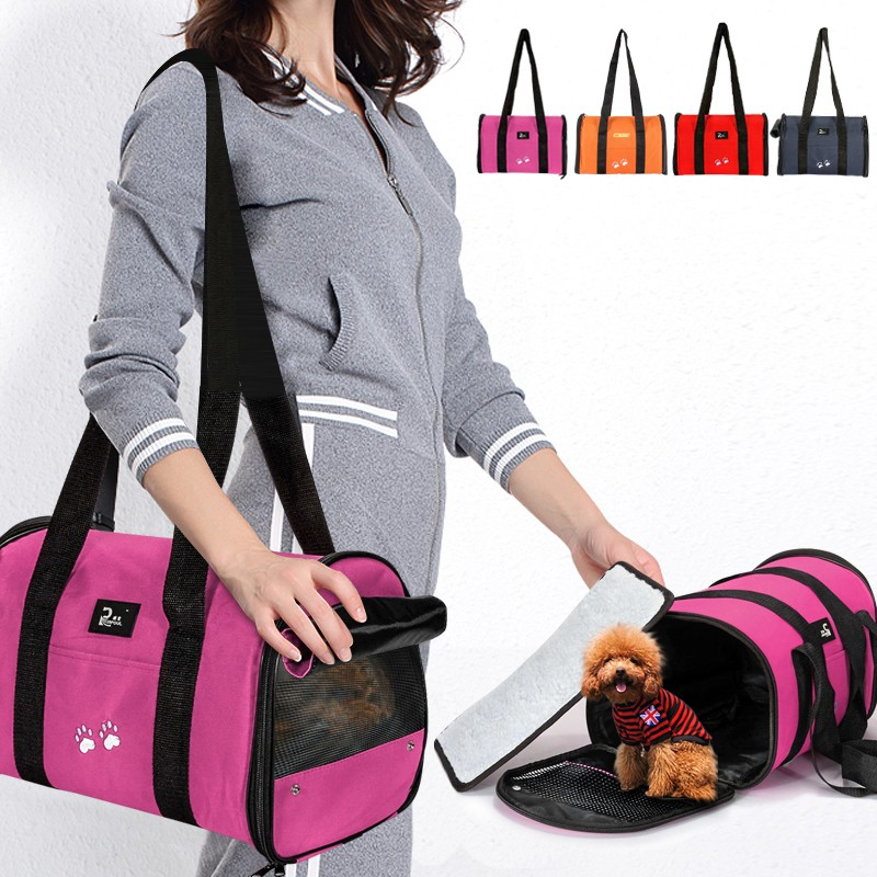 Pet Dog Bag Carrier- Pet Travel Portable Bag Tote Case Cage Tent Kennel Crate Home for Small Medium Pet Dog Cat Puppy, 38x23x26cm