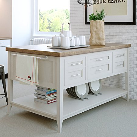 Fifth Furniture Gramercy Kitchen Island Walmartcom - Kitchen islands at walmart