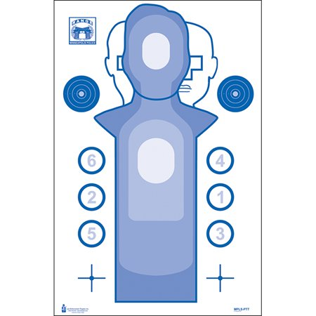 10 Pcs of Minneapolis (MN) PD Practice Target Ink: Blue Size: 23