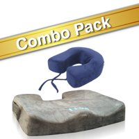 Bael Wellness seat cushion for sciatica, coccyx, tailbone, back pain & specialty neck cushion combo pack