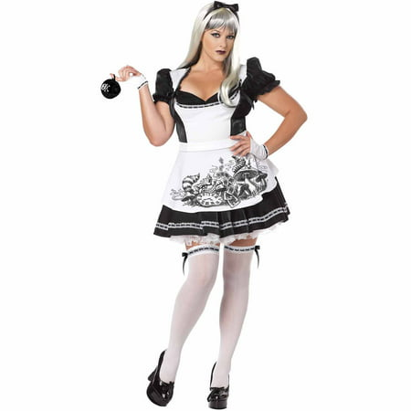 Dark Alice Adult Halloween Costume](Alice In Wonderland Costumes Tim Burton)