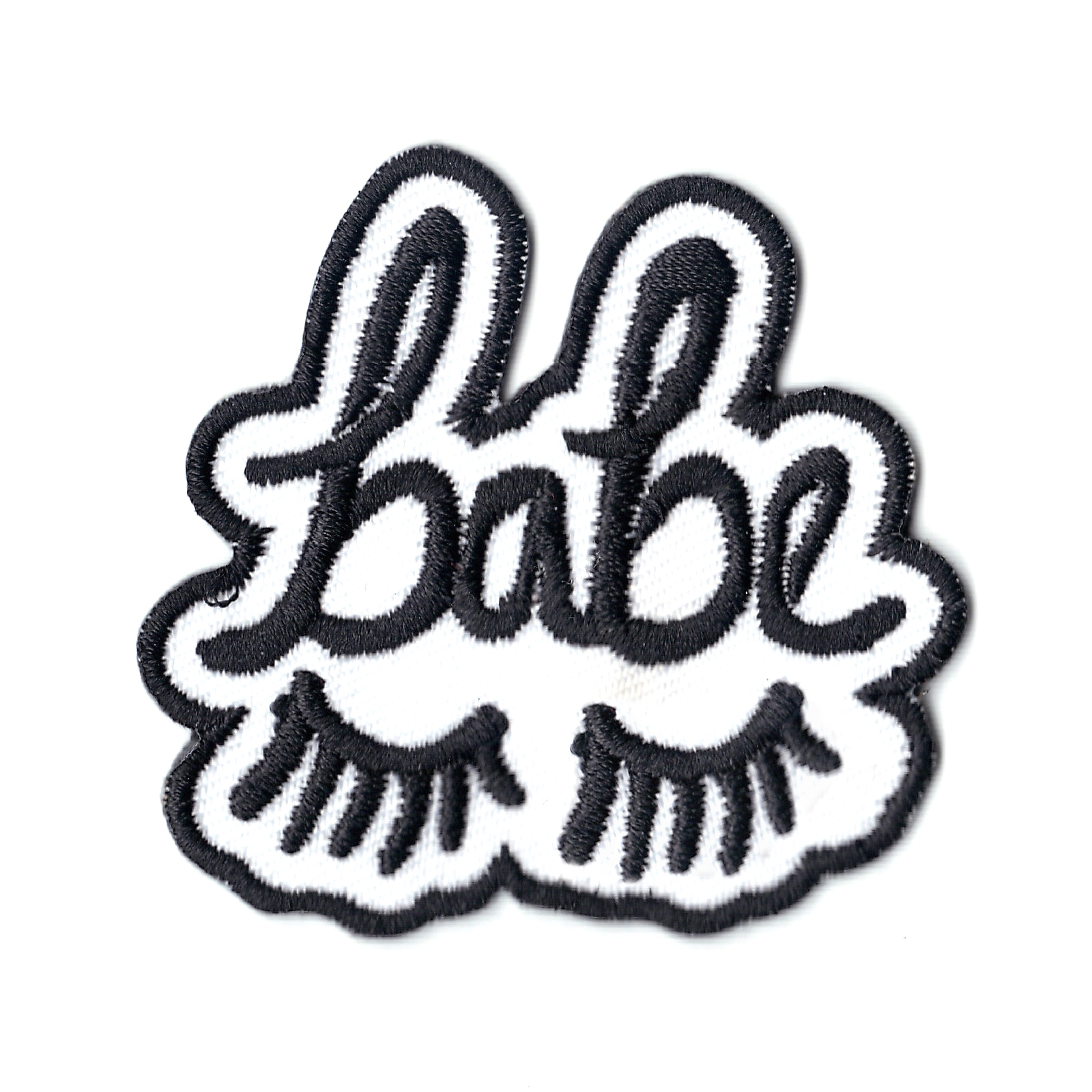 Babe With Eye Lashes Embroidered Iron On Patch