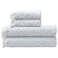 Better Homes & Gardens Diamond Pathway 4 Piece Bath Towel Set (2 Bath, 2 Hand)