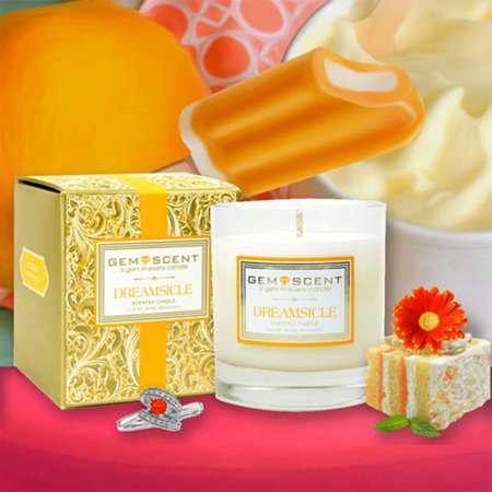 Gemscent Dreamsicle Boxed Soy Candle 11oz Home Decor Aromatherapy Spa Relaxation Relax Day Spa
