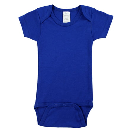 Bambini Blue Short Sleeve Onesie Bodysuit (Baby Boys)