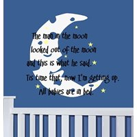"Decal ~ The Man in the Moon: Nursery Rhyme ~ WALL DECAL, 22"" x 24"""