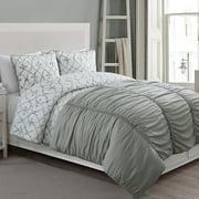 American Home Fashion Crest Grace 4 Piece Reversible Comforter Set