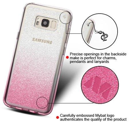 Samsung Galaxy S8 Case, by Insten Gradient Sheer Glitter Premium TPU Candy Skin Case For Samsung Galaxy S8 - Black - image 4 of 6