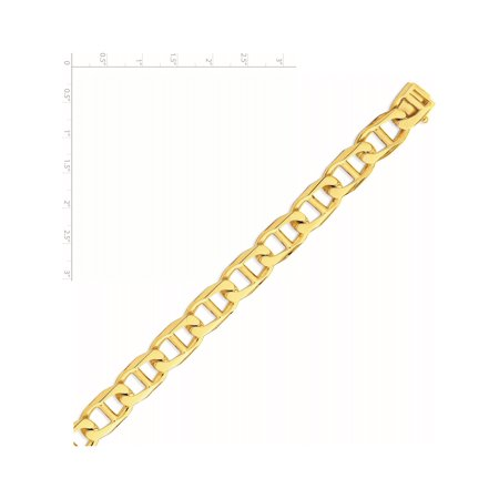 14k Yellow Gold 13mm Hand-polished Anchor Link Chain