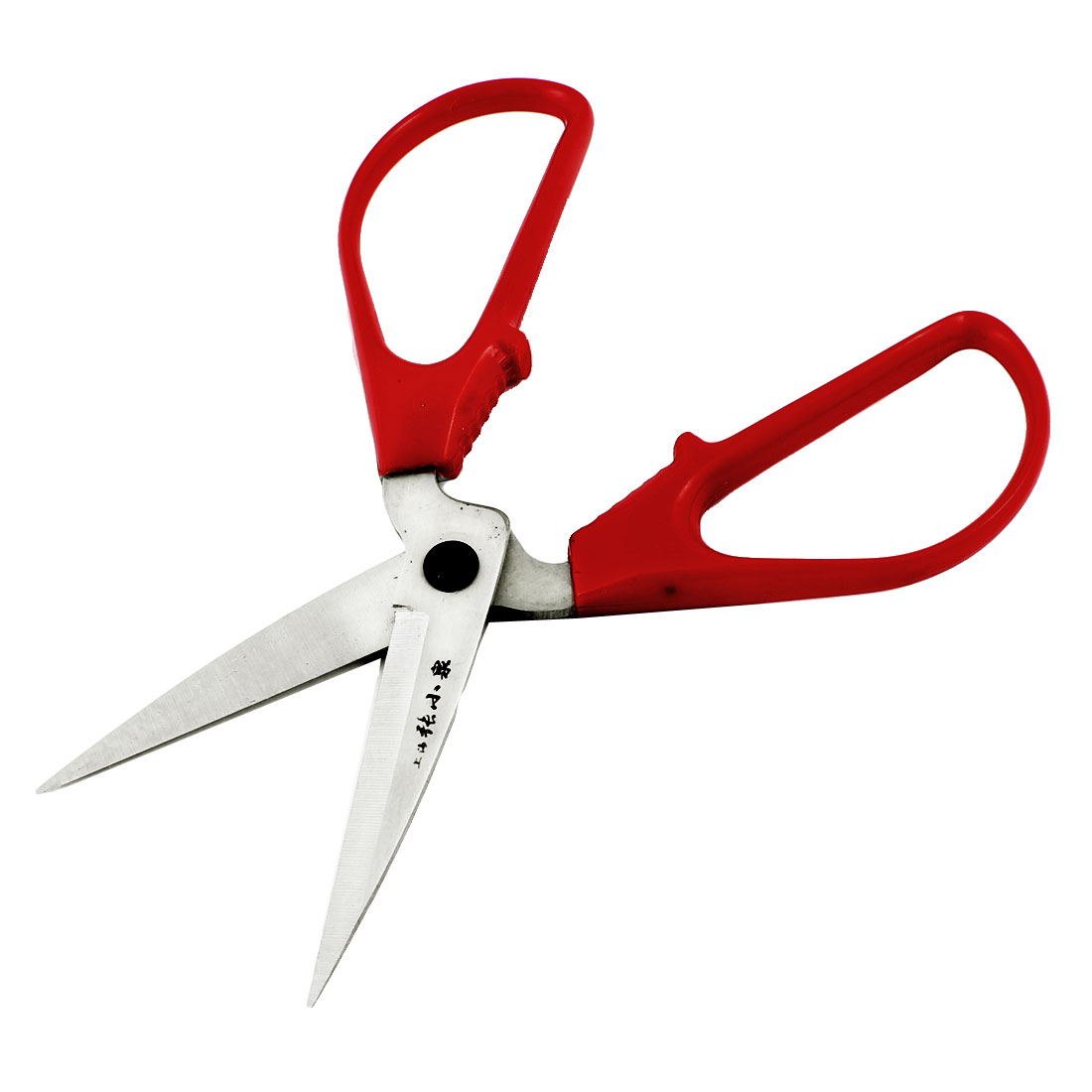 Home Sewing Metal 17.2cm Length Red Plastic Grip Scissors Shear Cutter