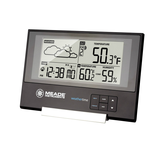 Meade TE346W Slim Line Personal Weather Station With Atomic Clock by Meade Instruments
