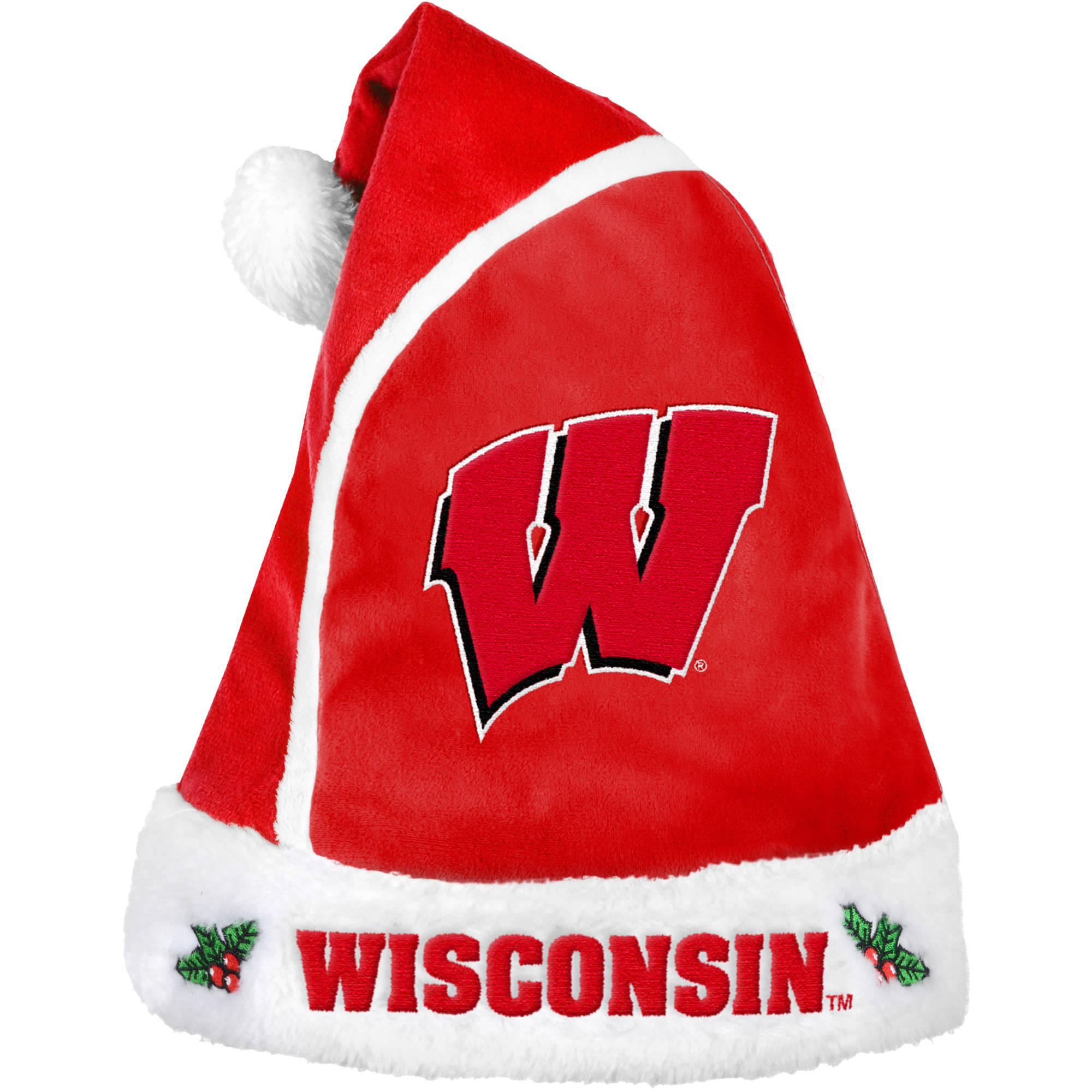 Forever Collectibles NCAA 2015 Santa Hat, University of Wisconsin Badgers