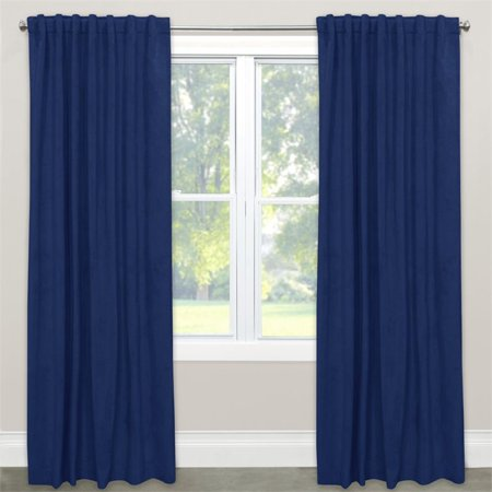 Skyline 108  Window Curtain Panel In Velvet Navy