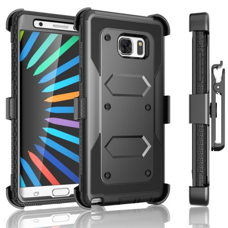 Series 7 Swivel - Galaxy Note 7 Case, Note 7 Case, Tekcoo [TShell Series] Shock Absorbing [Kickstand] Secure Swivel Holster Locking Belt Clip Defender Combo Case Cover For Samsung Galaxy Note 7