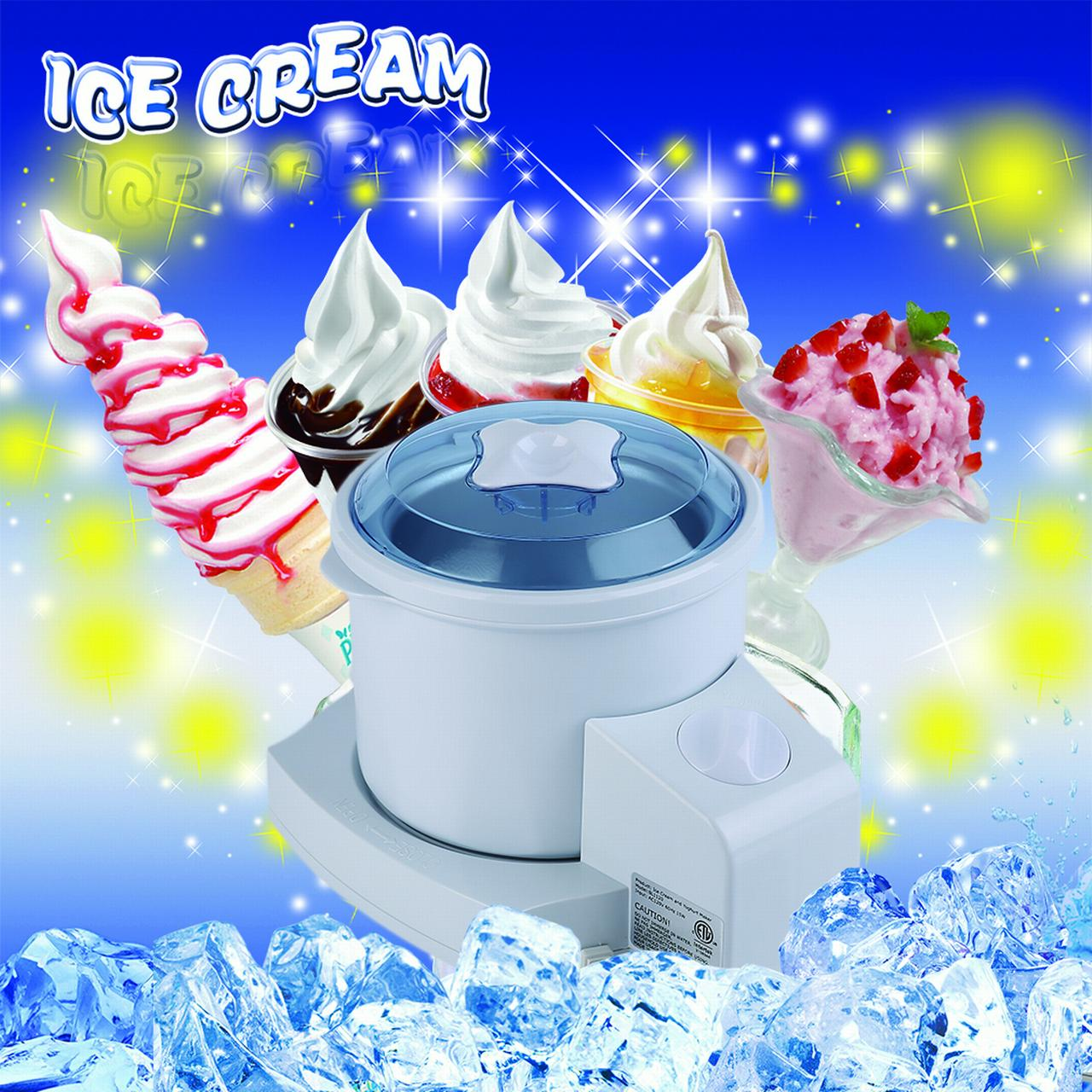 Popular Home Kitchen Ice Cream Yoghurt Maker Machine Household Fresh Fruit Dessert