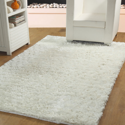 Affinity Home Collection Hand-Woven Ivory Indoor Area Rug