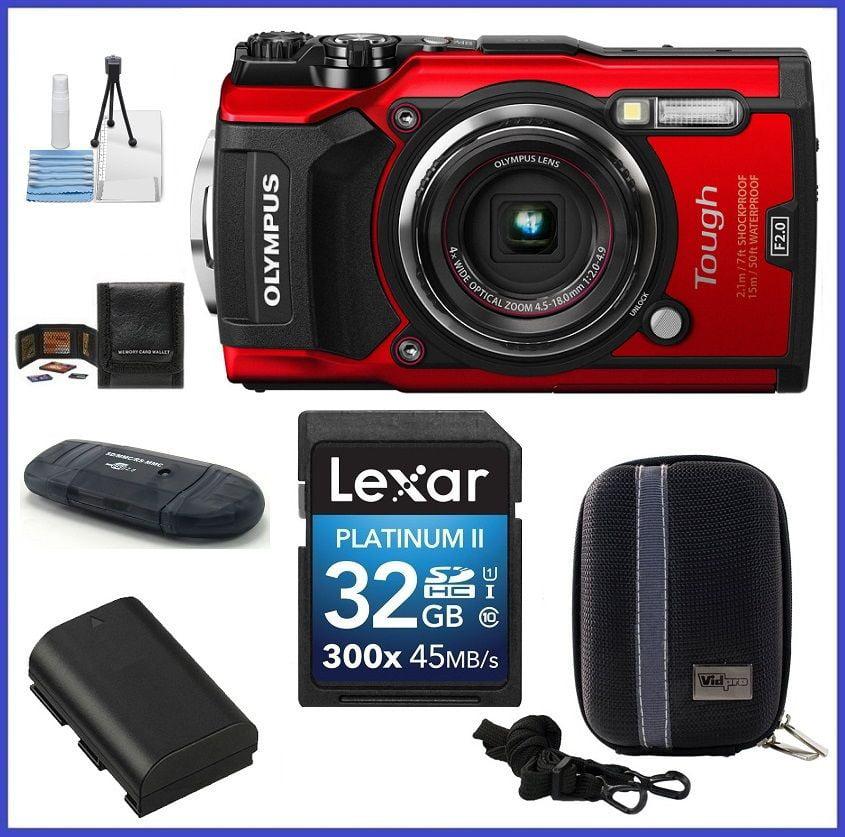 Olympus Tough Waterproof TG-5 Digital Camera (Red) 32GB P...