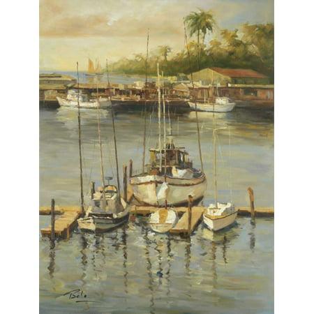 Bahama Harbor Stretched Canvas - Bolo (22 x 28)