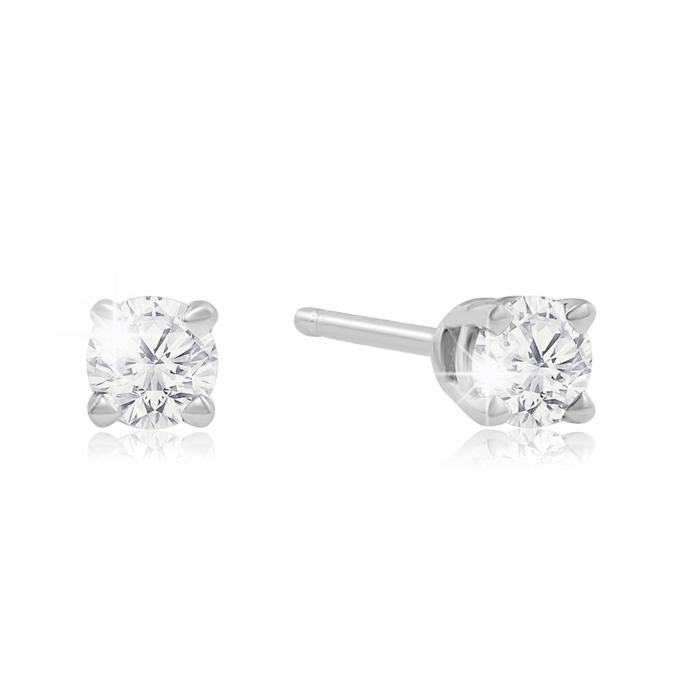 1/4ct Diamond Stud Earrings in White Gold