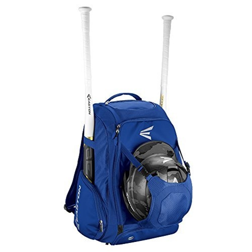 "Easton Walk-Off IV Carrying Case (Backpack) for Bat, Helmet, Cleat, Shoes, Ball - Royal - Felt Pocket, Ripstop Polyester, 600D Polyester - Shoulder Strap - 20"" Height x 9.5"" Width x 14"" Depth"