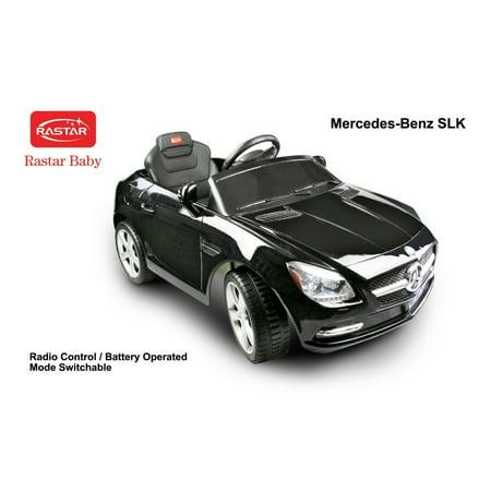 Rastar Licensed Black Mercedes Benz Slk Electric Rc Ride On Car Toy