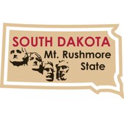 Karen Foster KFSM-1956 STATE-ments Stickers-South Dakota