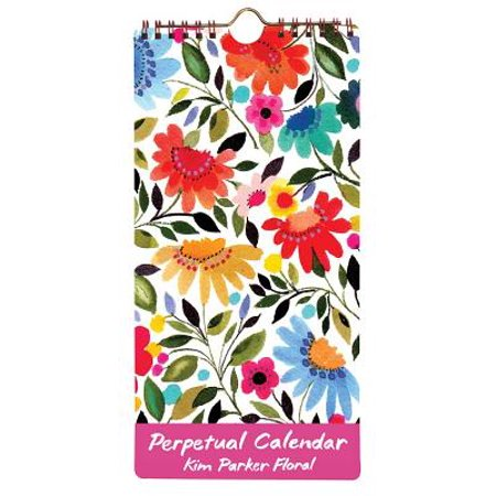 Perpetual Desk Calendar - Kim Parker Floral Perpetual Calendar