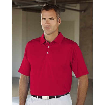 GOLD Men's 90% Polyester / 10% Spandex Knit Polo Shirt