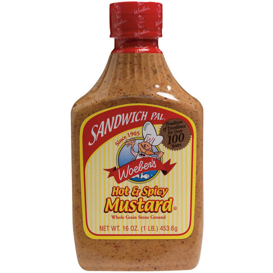 Woeber's Sandwich Pal Hot & Spicy Mustard, 16 oz