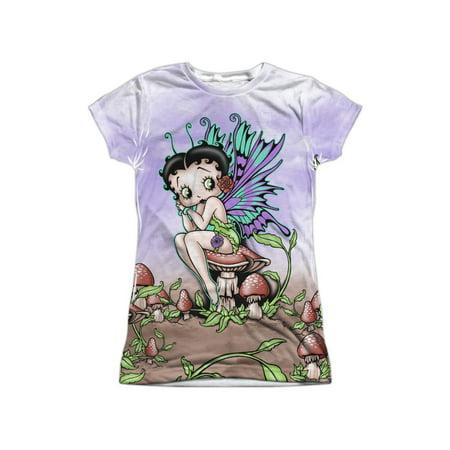 Betty Boop Cartoon Character Fairy Cartoon Juniors Front/Back Print - Betty Boop Outfits