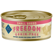 Blue Buffalo Freedom Grain Free Natural Adult Small Breed Wet Dog Food, Chicken 5.5oz cans (Pack of 12)