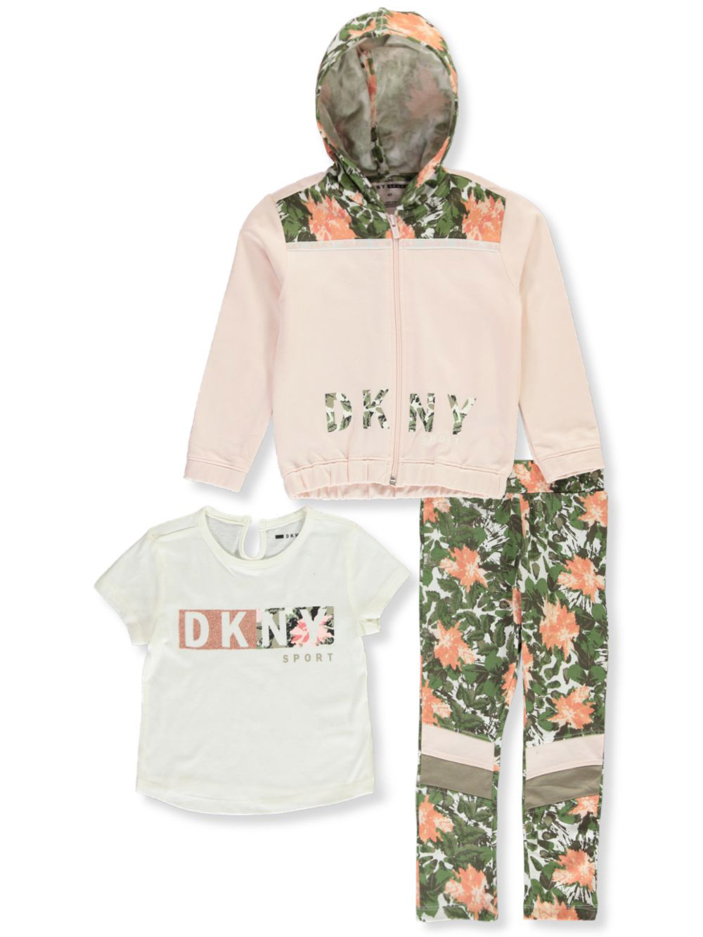 DKNY Girls Signature Hooded Top