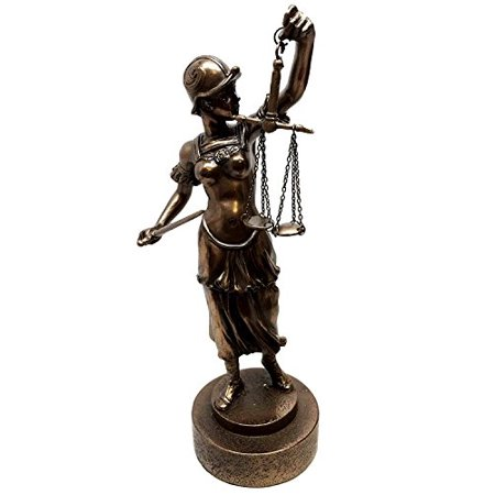 Lady Justice Statue - CONTEMPORARY LADY JUSTICE WITH SCALES AND SWORD STATUE DIKE LA JUSTICA FIGURINE