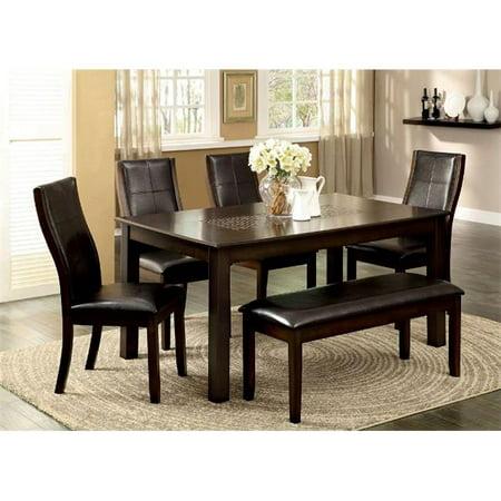 Furniture Of America IDF-3339CH-SC Toronto Dark Oak Dining Chair - 2 Pack ()