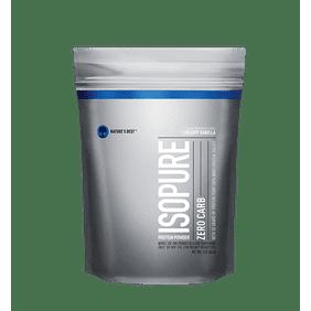 Isopure Zero Carb Protein Powder, Vanilla, 50g Protein, 1 Lb