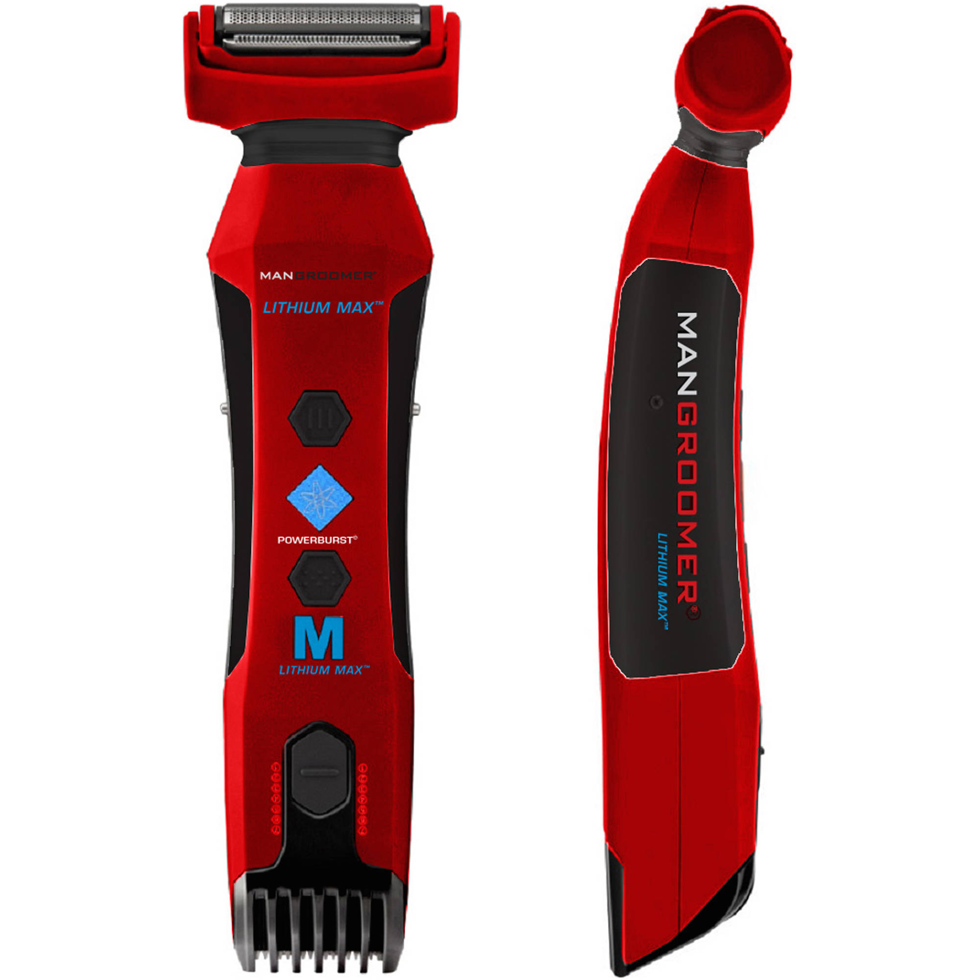 ManGroomer Lithium Max Body Groomer and Trimmer, 4 pc