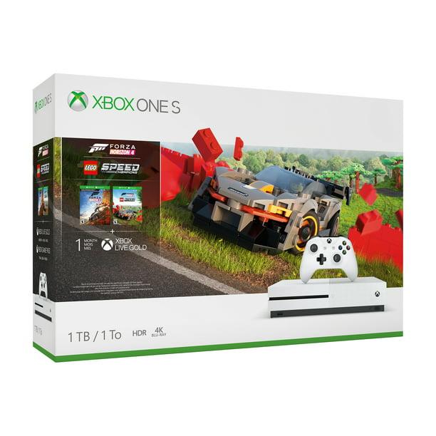 Microsoft Xbox One S 1TB Forza Horizon 4 LEGO® Speed Champions Bundle, White, 234-01121