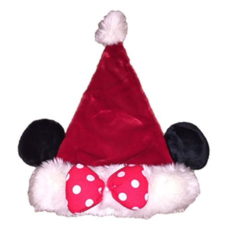 70e4e63c4df8f Disney Girls  Minnie Mouse Plush Santa Hat With Ears (Minnie) - Walmart.com