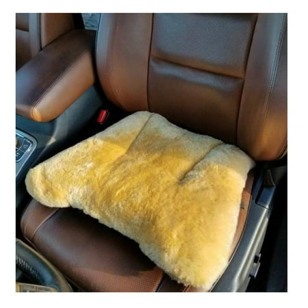 Xtreme Cushion - Seville Classics Genuine Sheepskin Short Wool Seat Cushion for Extreme Comfort
