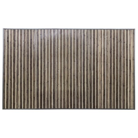 Venice Natural Bamboo 5' X 8' Floor Mat, Rustic Grey Area Rug Indoor Carpet for $<!---->