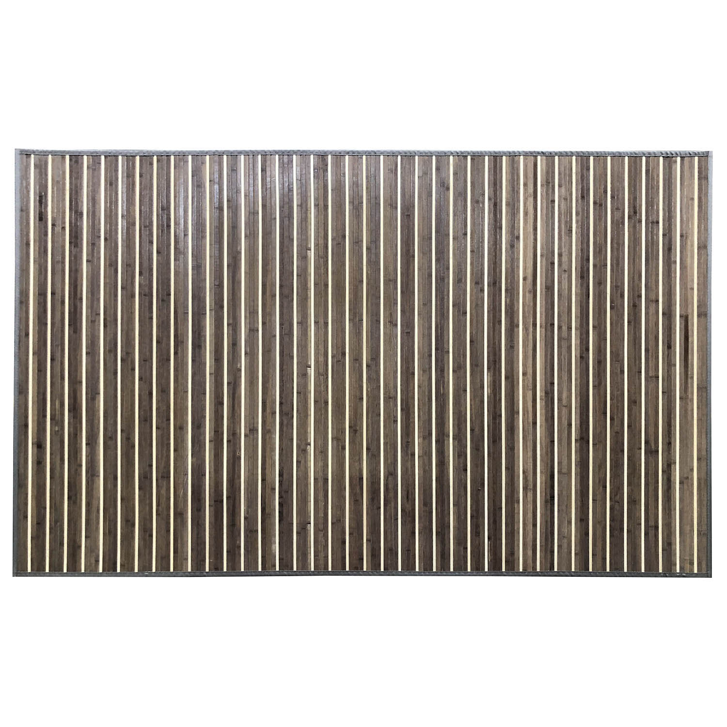 Venice Natural Bamboo 5' X 8' Floor Mat, Rustic Grey Area Rug Indoor Carpet